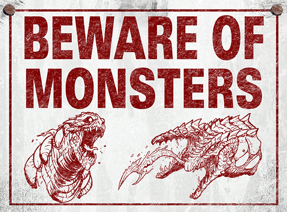 beware of monsters logo